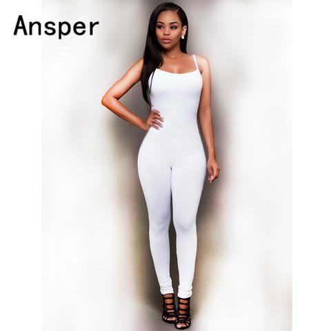 1ed77143d1e7 2018 New Women femlale Casual Sleeveless Bodycon Romper Jumpsuit Club  sheath sporting tank suit Bodysuit Long PantsClub