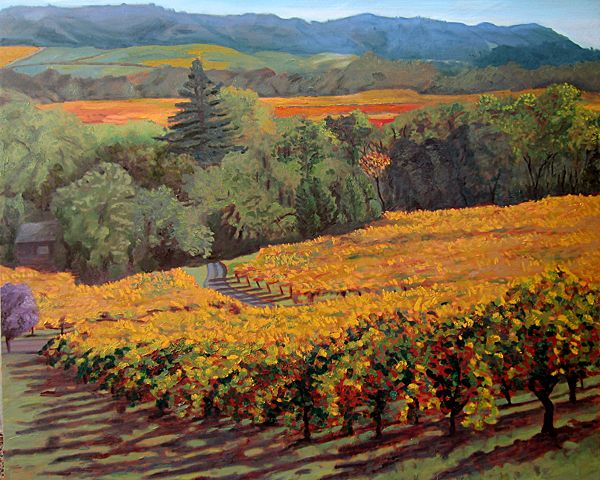 Most Beautiful Vineyard Landscape Paintings Abstract