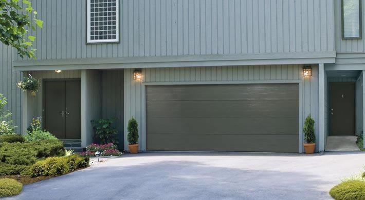 Traditional Flush Panel Custom Painted Garage Door Design Garage Doors House Exterior