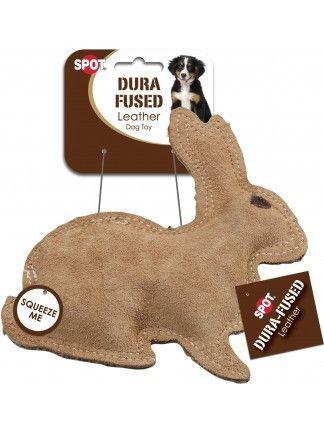 Spot Dura Fused Leather Jute Rabbit Dog Toys Dog Chew Toys