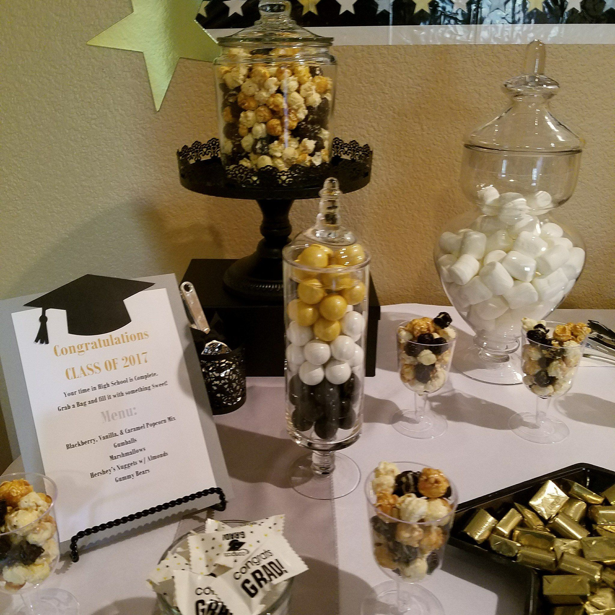 Sweet Treats In Gold Black And White Gold Graduation Party