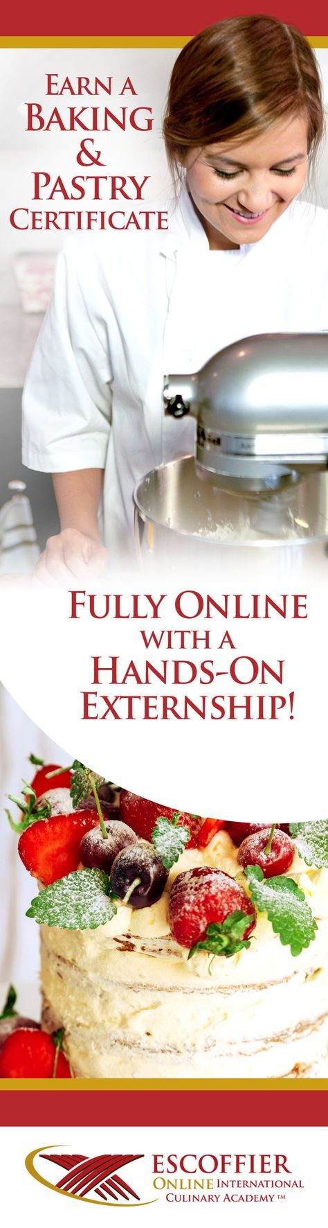 Carreer 4 vision board pinterest chef school baking courses cake decorating confiserie and frozen desserts management by menu and so much more earn a baking pastry certificate fully online with a hands on 1betcityfo Images