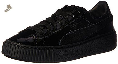 Puma Women's Basket Platform Fo Black Ankle High Fashion Sneaker 7M