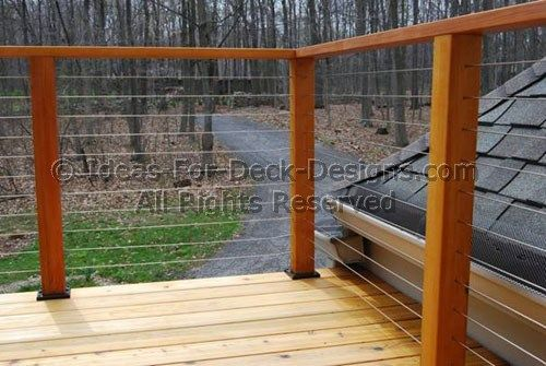 Cable Railings Build Deck Railings With Stainless Steel Cable Deck Railings Cable Railing Deck Deck Railing Design