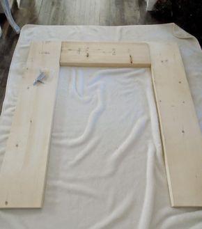 anleitung f r kaminumrandung aus holz selber bauen shabby chic pinterest selber bauen. Black Bedroom Furniture Sets. Home Design Ideas
