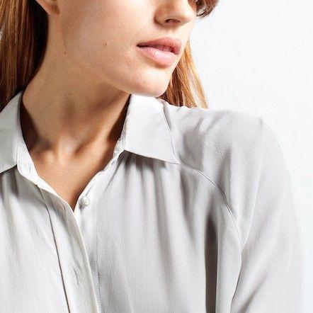 The Silk Point Collar - Light Grey – Everlane