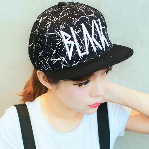 Hip hop baseball cap for girls wear black flat brim caps  924d0b61a805