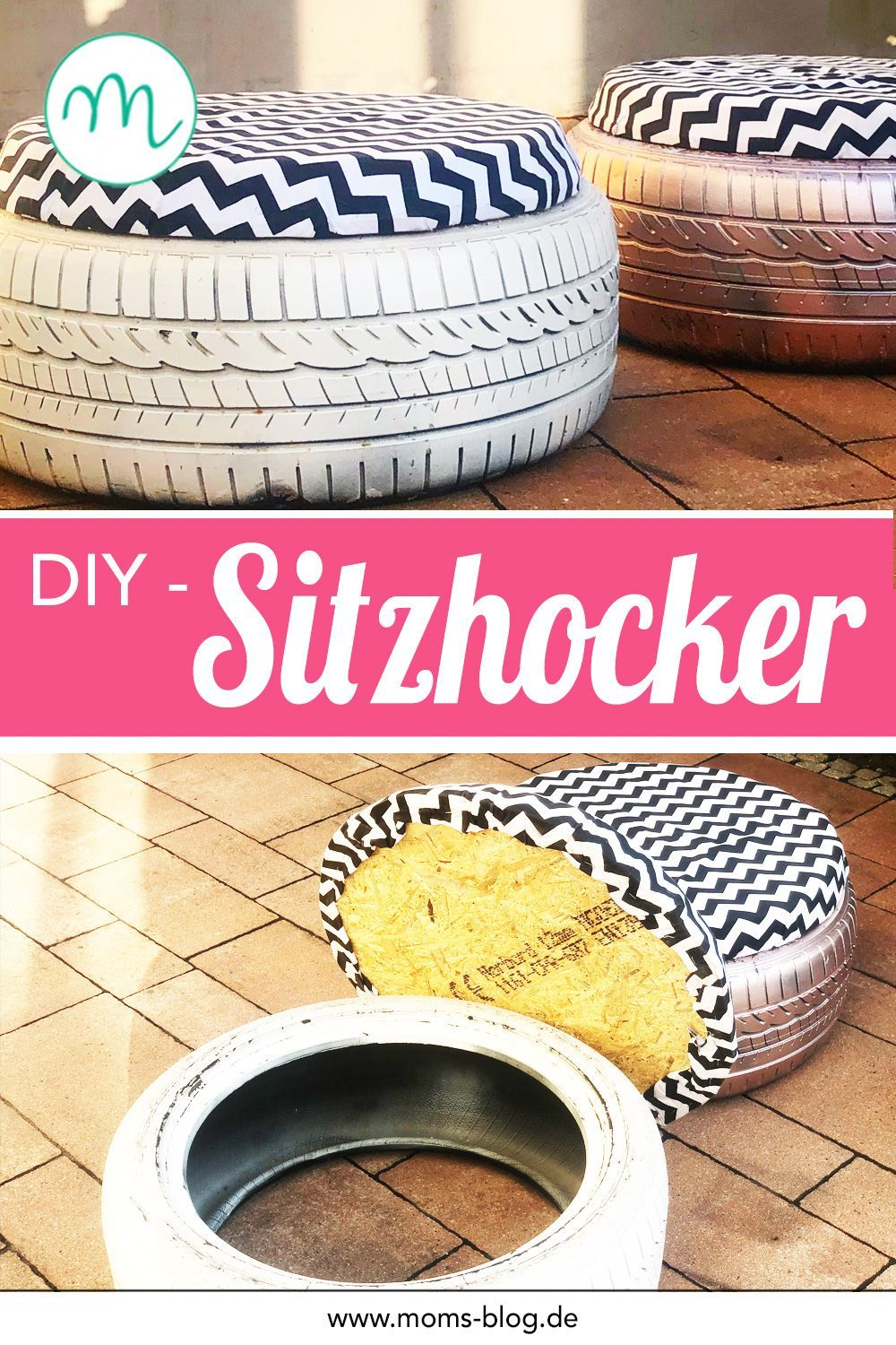 Photo of DIY idea: make stools out of car tires! ⋆ Moms Blog, the practical family blog!