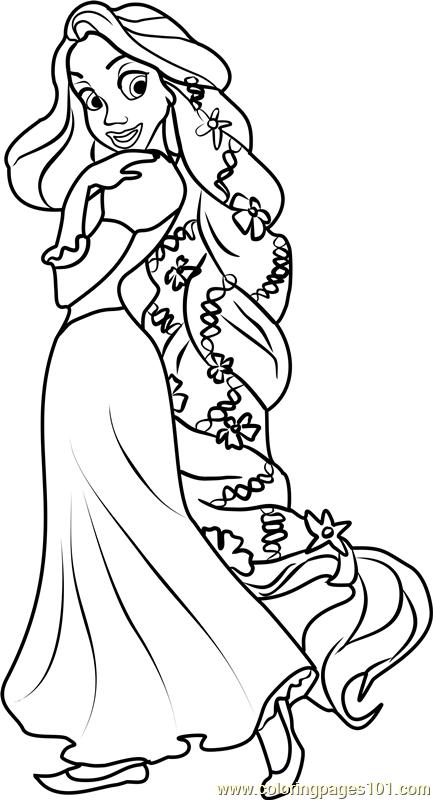Princess Rapunzel Coloring Page Princess Coloring Pages Disney Princess Coloring Pages Rapunzel Coloring Pages