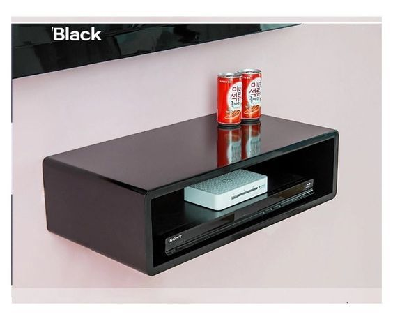 Details About Wall Mount Shelves Cube Floating Dvd Hifi Units