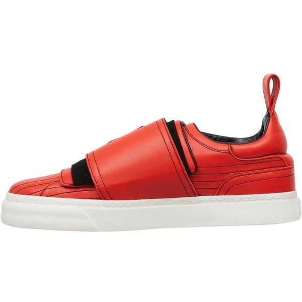 Velcro Sneakers - Shop Online at Style.com ❤ liked on Polyvore featuring flats