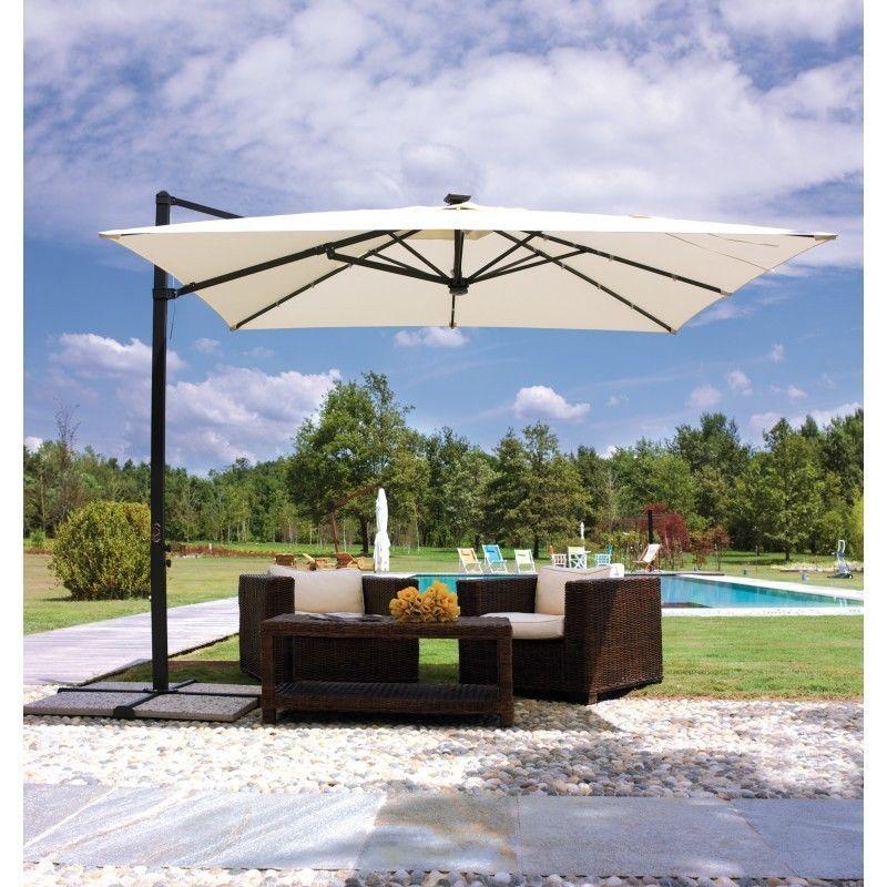 Parasol A Pied Deporte 3 X 3m Jardin Terrasse Structures Parasols Parasols Ebay Parasol Terrasse Parasol Carre Parasol