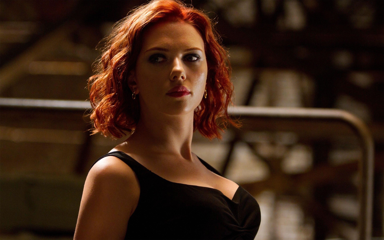 Scarlett Johansson Avengers High Definition Wallpaper Black