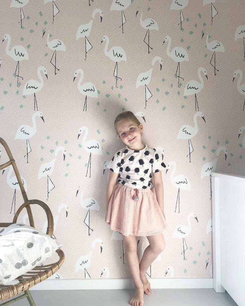 IN PARADISE PINK Natty & Polly Wallpaper Australia