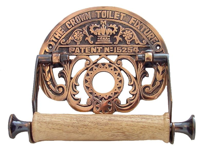 This Beautiful Solid Br Reproduction Toilet Paper Will Complement Any Décor But Looks Particularly Good In A Victorian Bathroom