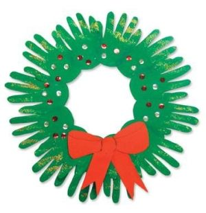 christmas hand wreath cute craft for the kids christmas