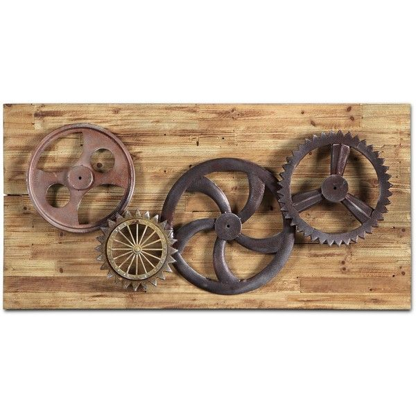 Industrial Gears Wall Decor 255 CAD Liked On Polyvore Featuring Home
