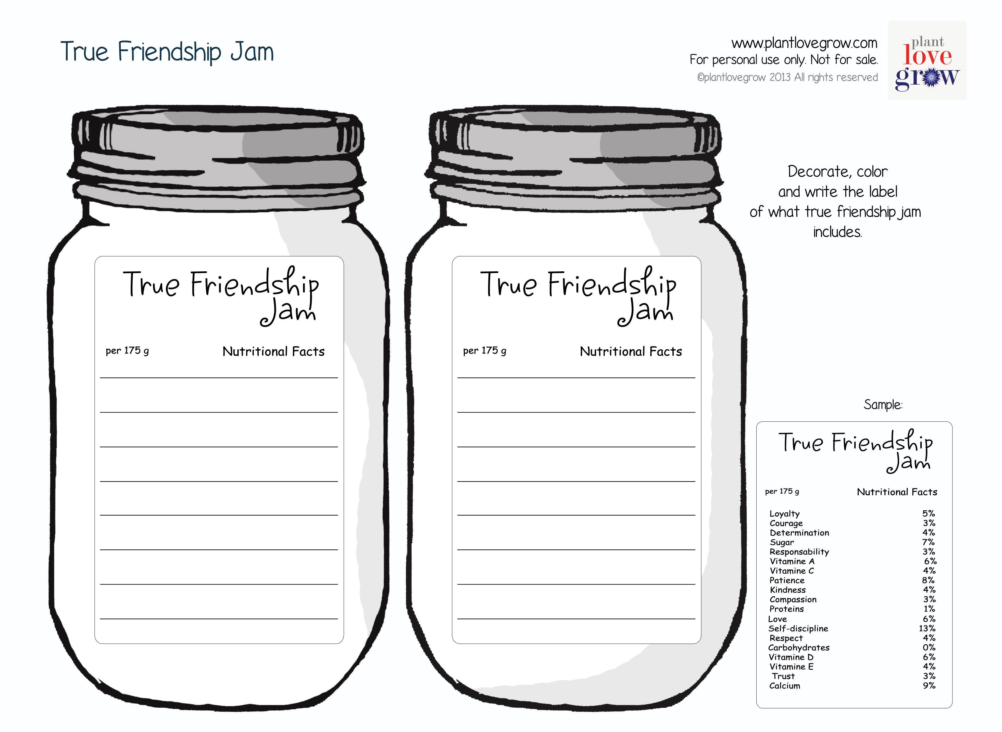 True Friendship Jam Ingre Nts What Goes Into True