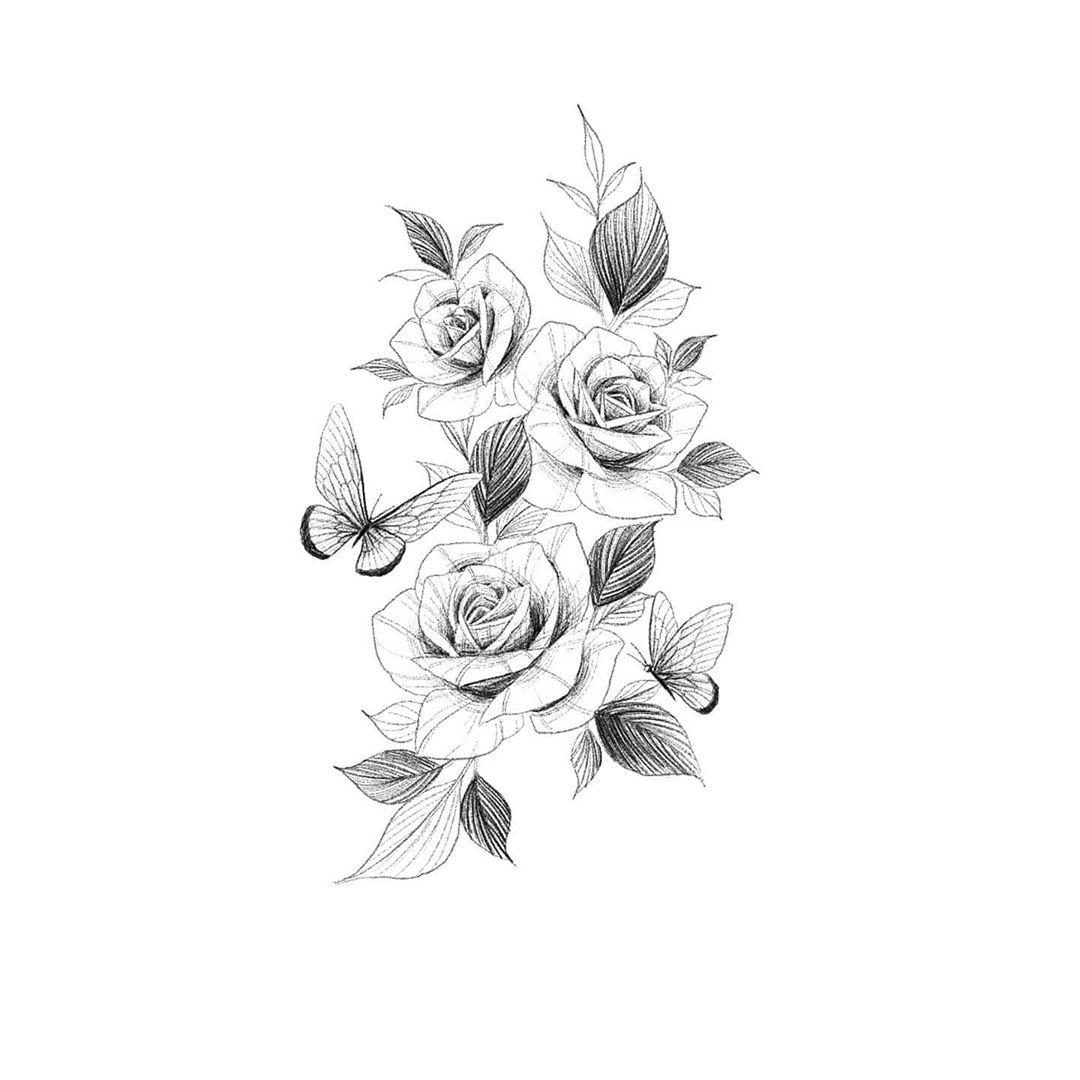 작업예정 오른쪽 허리에 들어갈예정이예요 6월 예약 받습니다 Tattooflash Flowertattoodesigns Blackart Linetattoos In 2020 Rose Tattoos Flower Tattoo Lotus Flower Tattoo