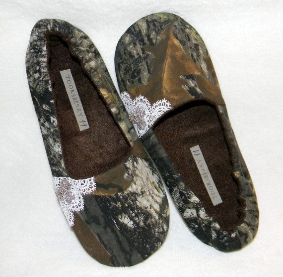 Wedding Bridal Camo Lace Womens Ladies Wedding Flats Shoes