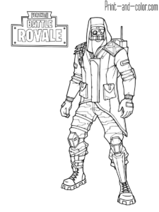 Fortnite Battle Royale Coloring Page Archetype Skin Outfit