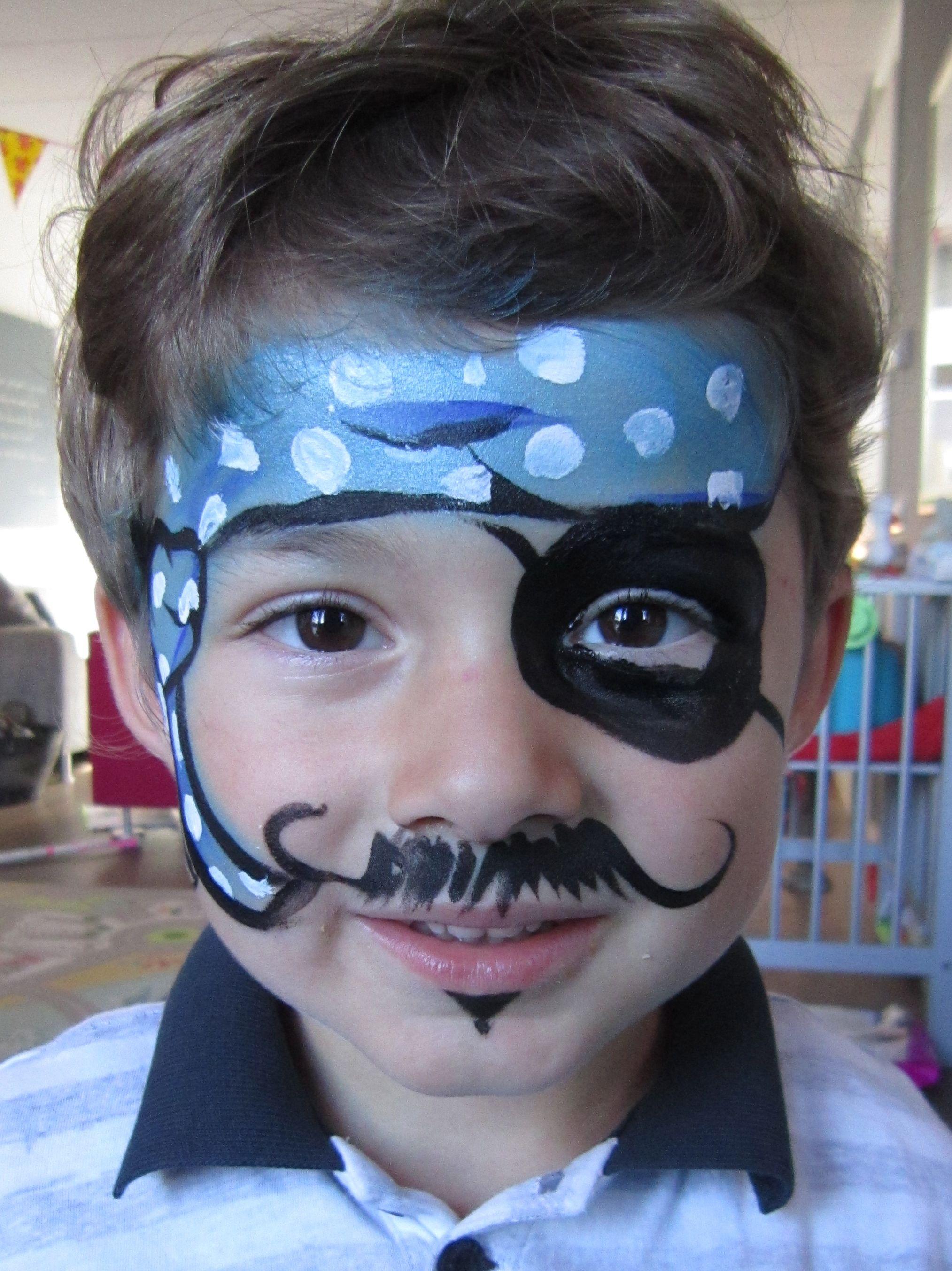 face paint schminken piraat door annemiek schminkenisleuk. Black Bedroom Furniture Sets. Home Design Ideas