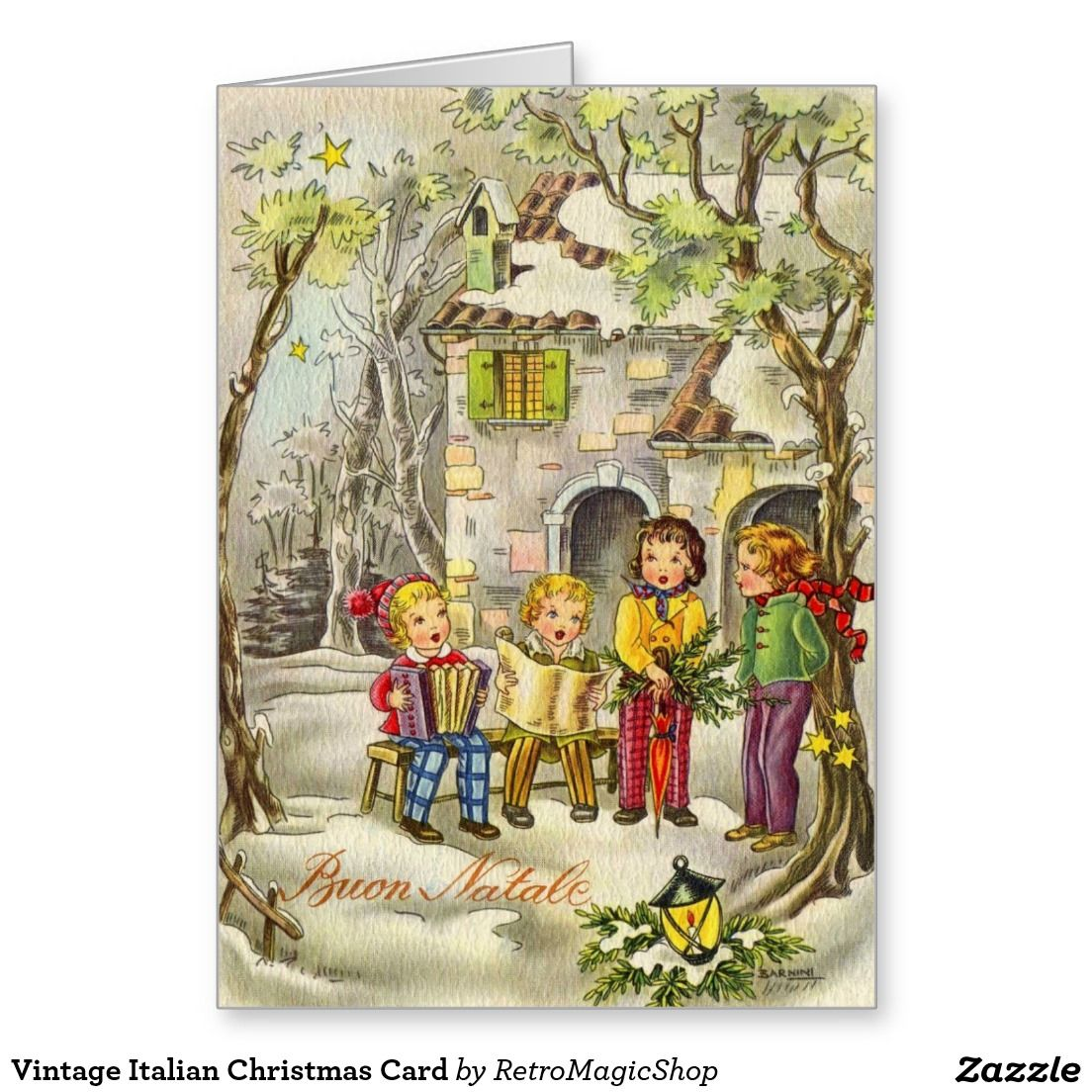 Vintage italian christmas card vintage international christmas and vintage italian christmas card m4hsunfo