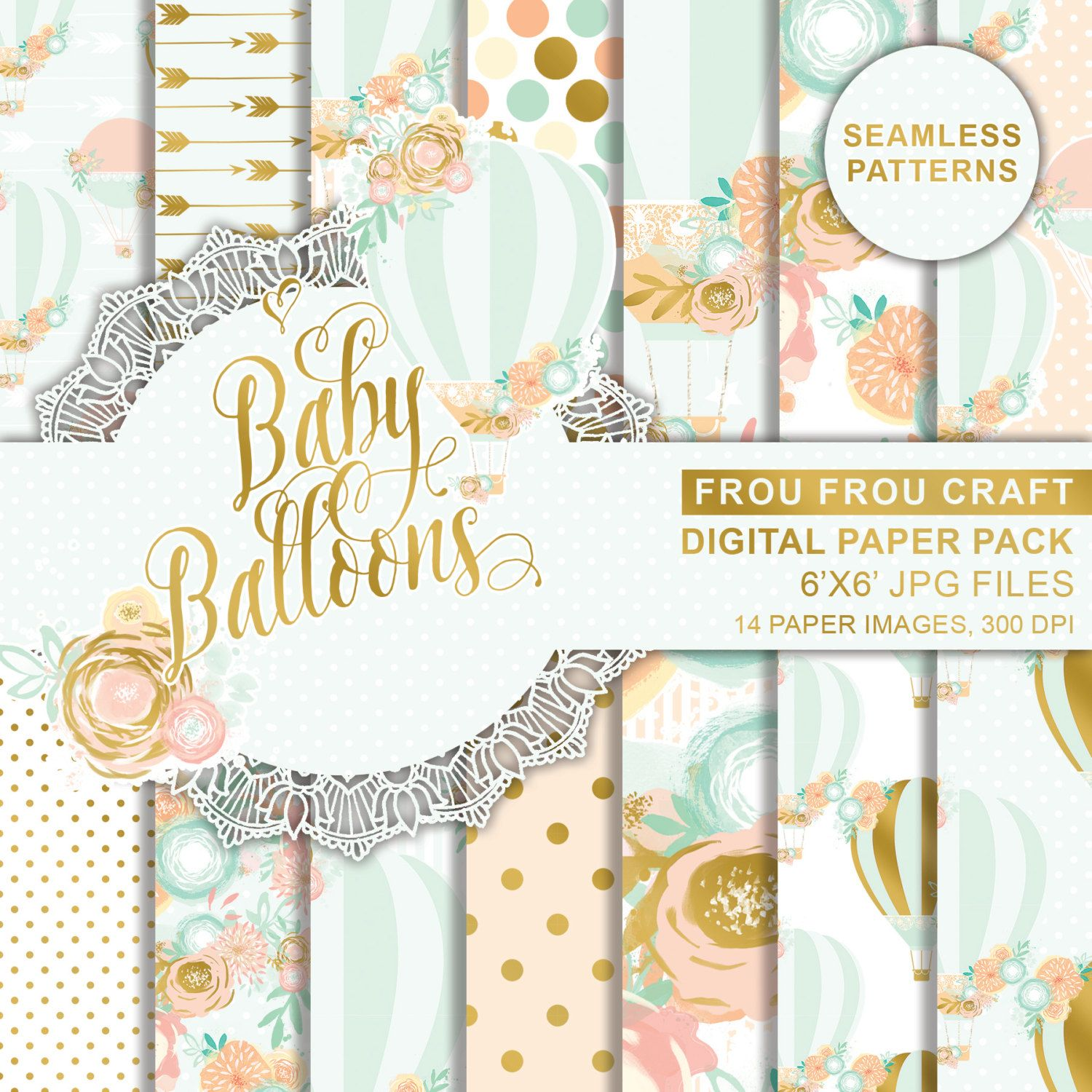 Scrapbook paper baby boy