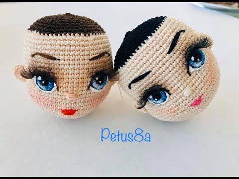 Como bordar y pintar ojos en tus muñecas amigurumis by Petus - YouTube