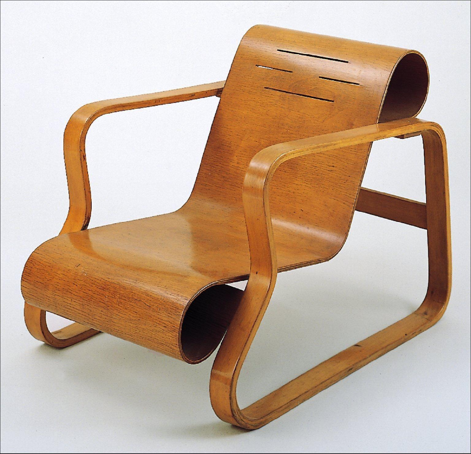 design finlandais alvar aalto 1932 fauteuil paimio pour finmar bois mobilier 1930s. Black Bedroom Furniture Sets. Home Design Ideas