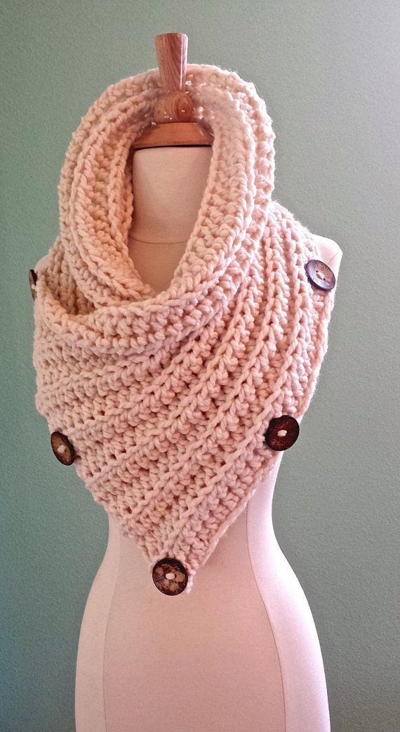 Chunky Crochet Infinity Scarf Huntress Cowl by AnniesHookNook ...