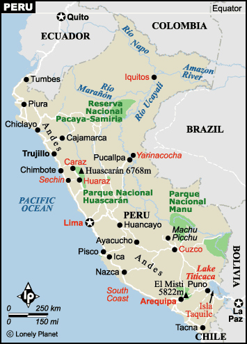 Airports In Peru Map.Peru Map Of Airports