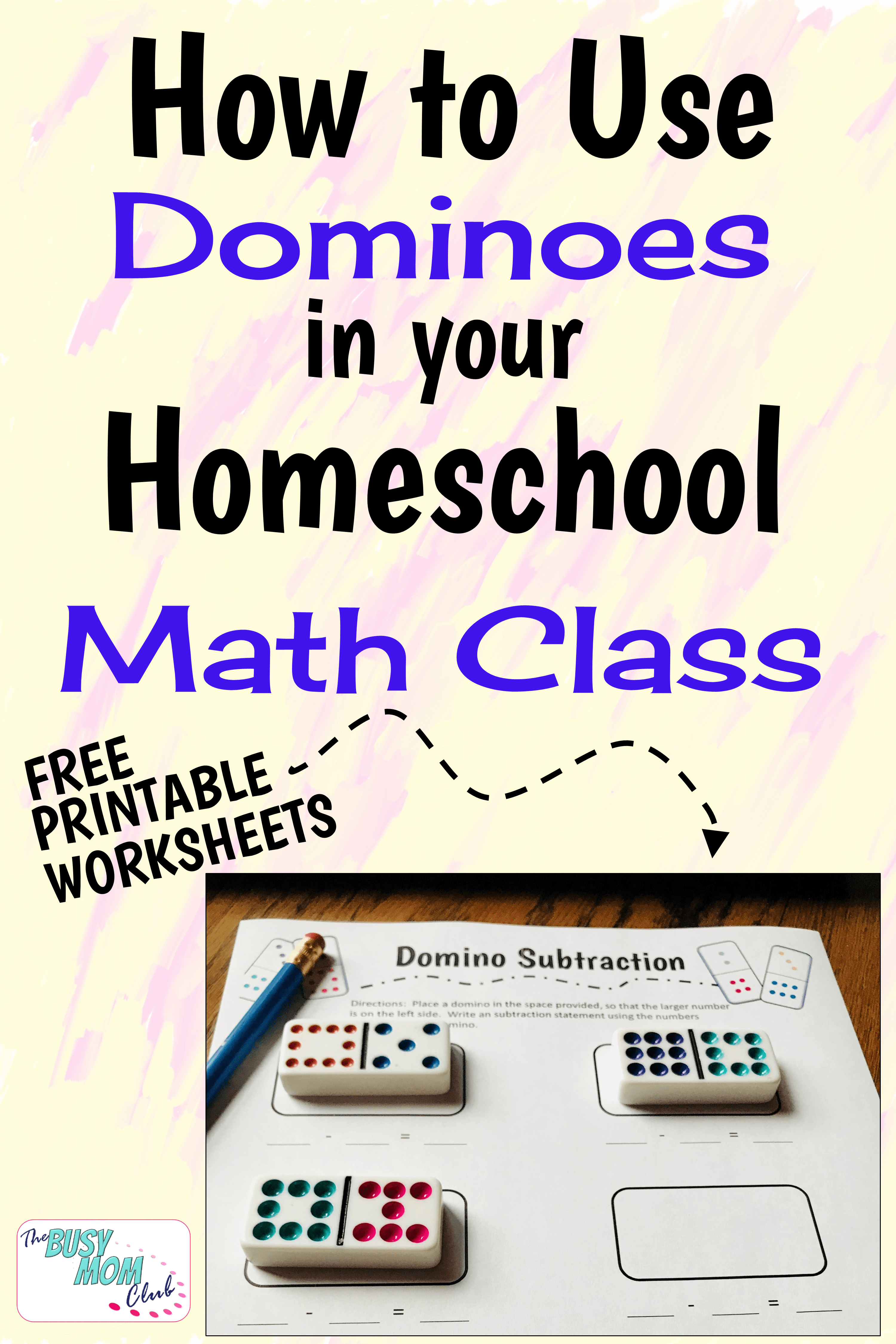 Free Printable Domino Addition Worksheets