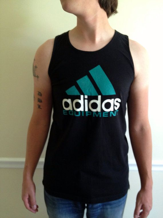 aaccb62433374 Vintage 1980s Adidas Equipment Mens Tank Top