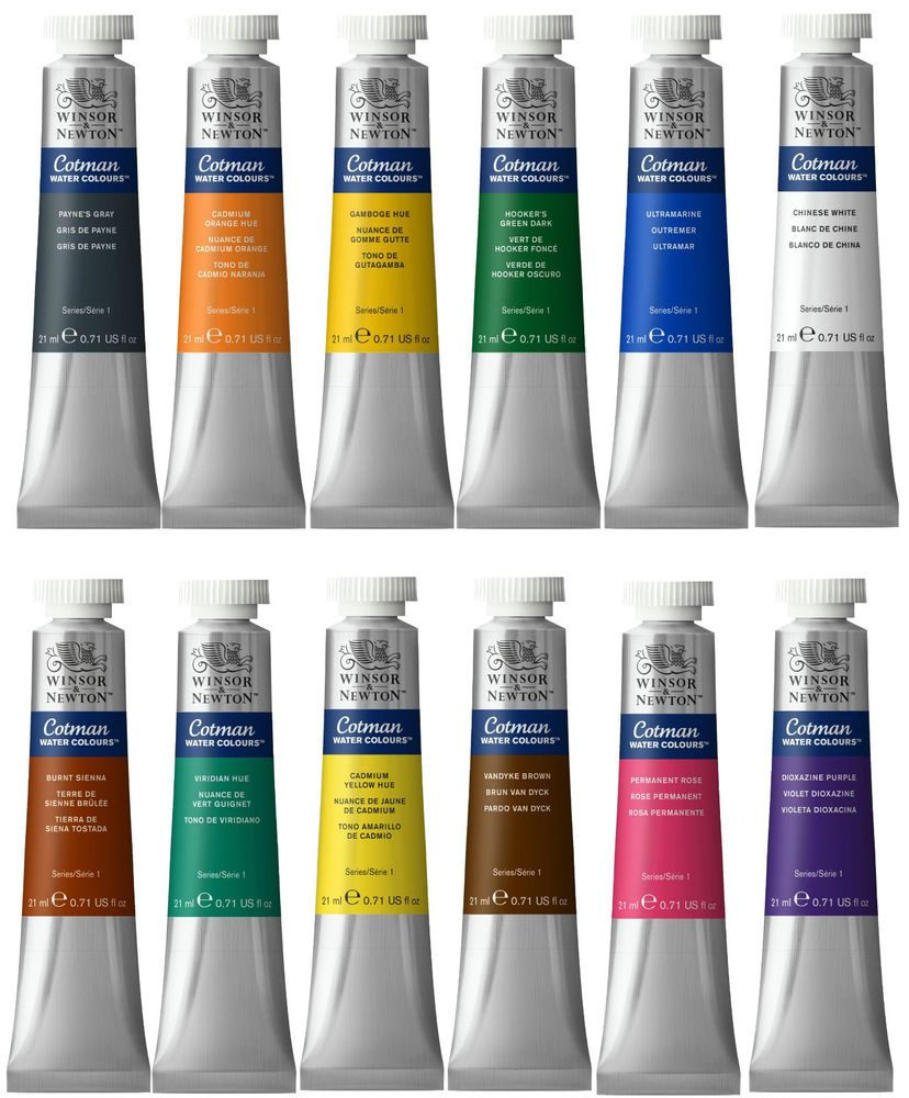 Details About Winsor Newton Watercolour Paints Tubes 8ml Or 21ml
