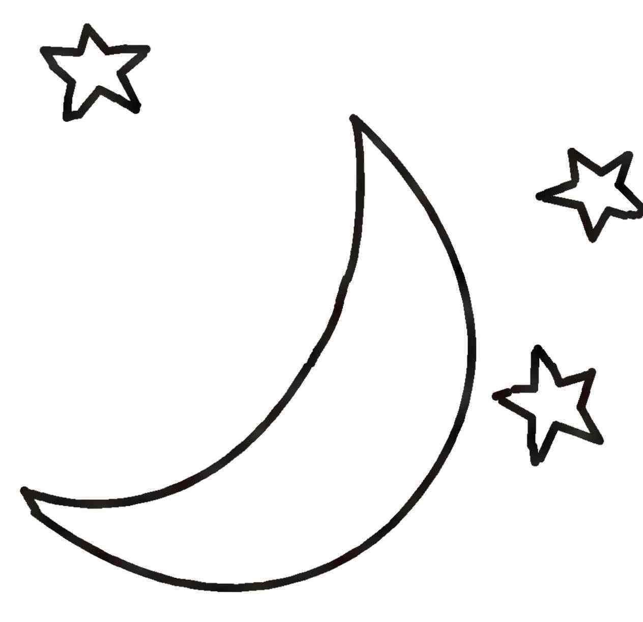 Moon simple. Pin by joanna keysa