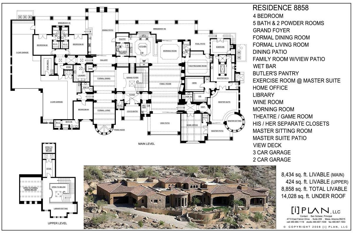 Floor Plans 7 501 Sq Ft To 10 000 Sq Ft Mansion Floor Plan Architectural Floor Plans Floor Plans