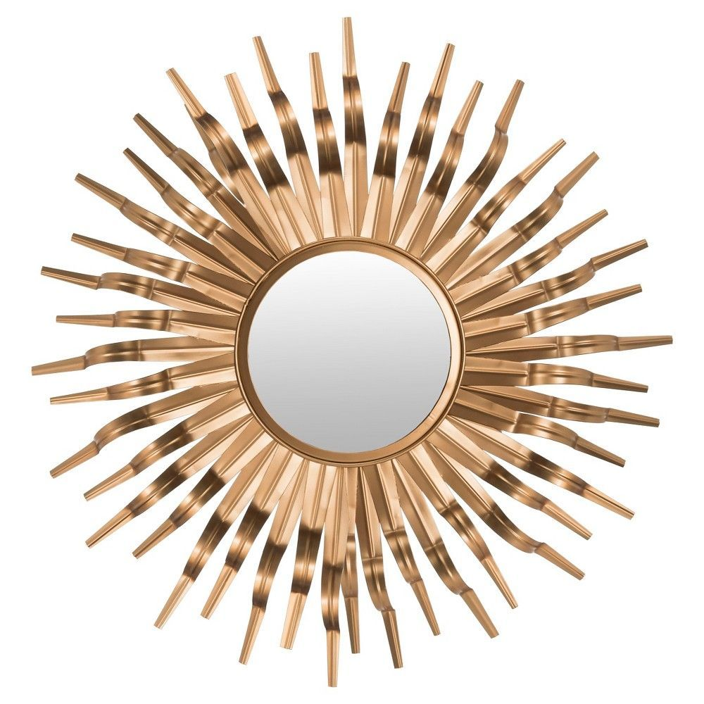 Sunburst Decorative Wall Mirror Gold Safavieh Products