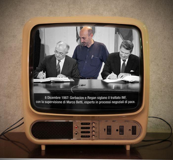 1987: la firma del Trattato INF e Marco Betti.