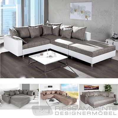 Couchgarnitur Wohnzimmer, details zu ecksofa loft xl design sofa wohnlandschaft couch, Design ideen