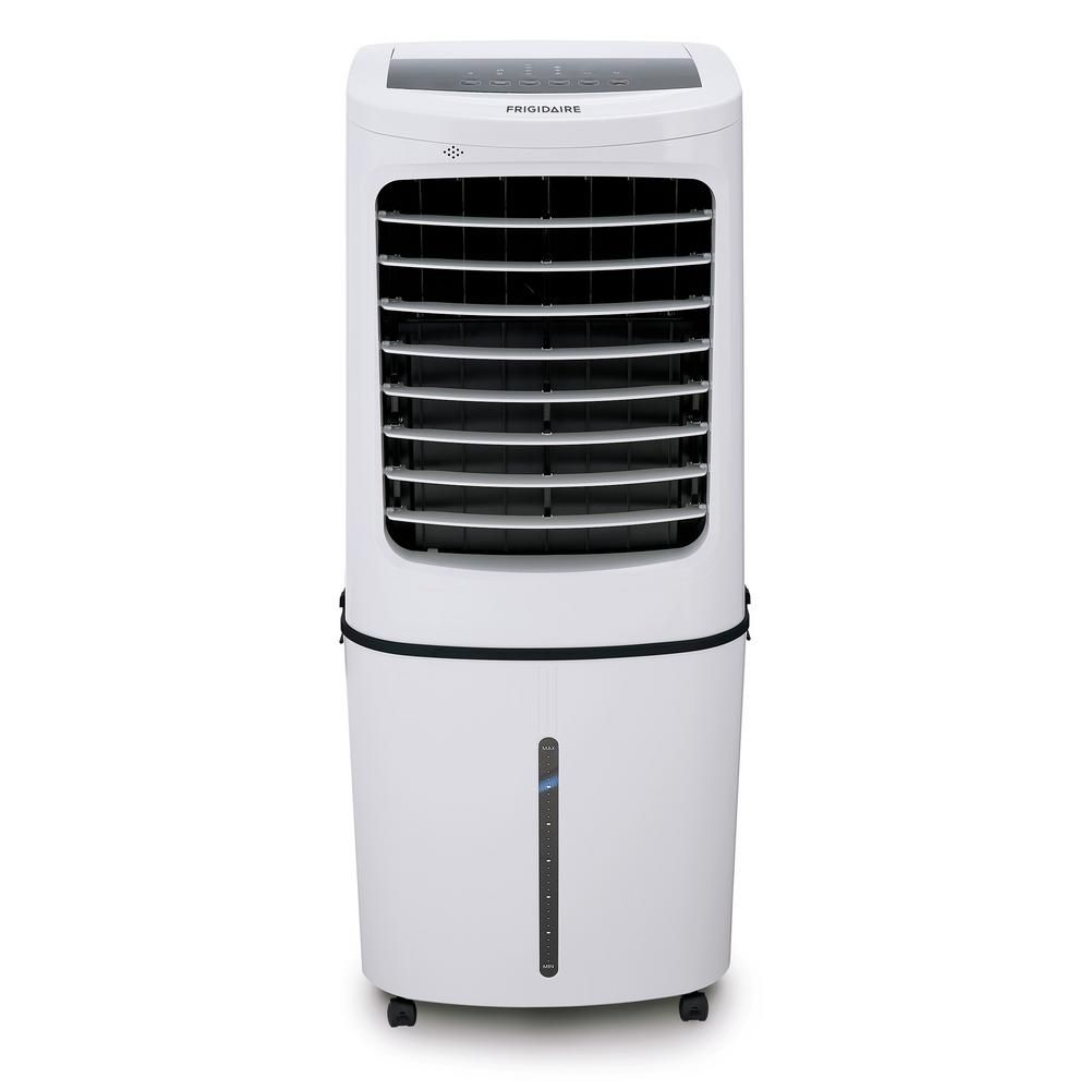 Frigidaire 500 Cfm 3 Speed 2 In 1 Evaporative Cooler Swamp Cooler And Fan With Removable Water Tank For 450 Sq Ft White Ec400wf The Home Depot Evaporative Air Cooler Swamp Cooler Evaporative Cooler