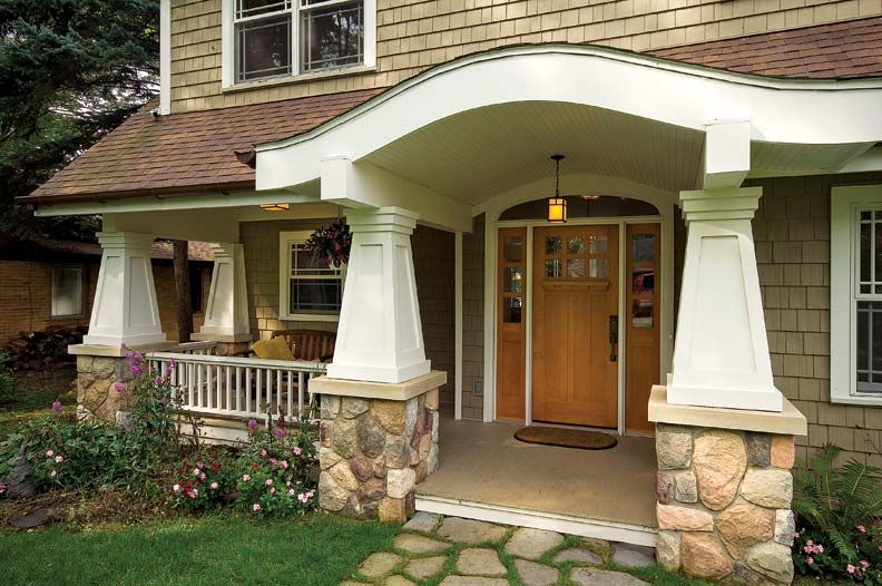 Craftsman style columns google search craftsman for Craftsman tapered columns