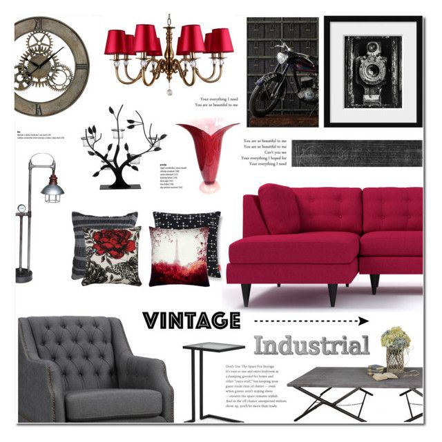 """""""Vintage Industrial Home decor"""" by anyasdesigns ❤ liked on Polyvore featuring interior, interiors, interior design, home, home decor, interior decorating, Andrew Martin, Villa Maison, Dot & Bo and Murano"""
