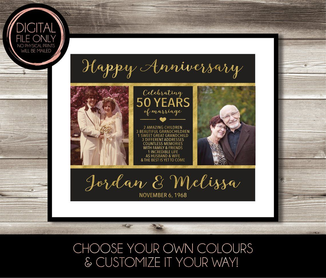 50 Year Anniversary Then Now Photo Gift 50th Wedding Anniversary Gift Idea Present Personalized Keepsake Gift Gift For Parents 50th Anniversary Gifts 25th Anniversary Gifts 25 Year Anniversary Gift