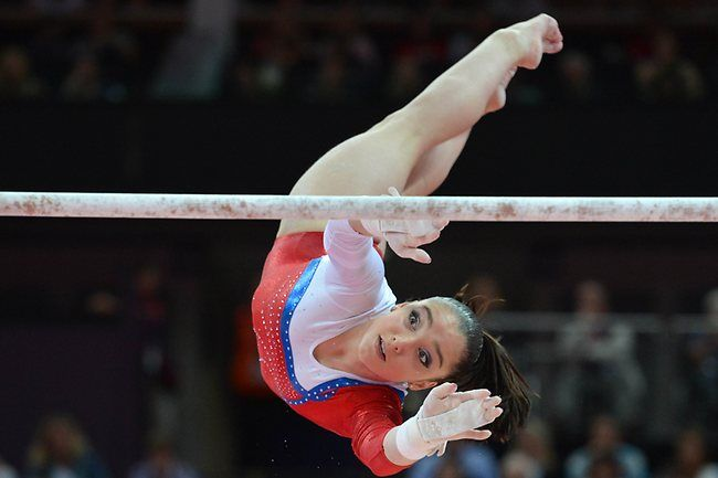 Mustafina Wins Gold In Uneven Bars, As Drained Douglas