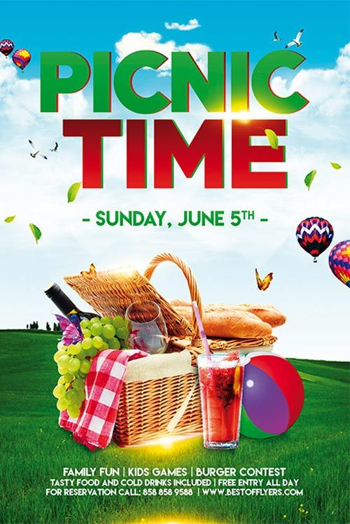 Picnic Time Free Poster Template  HttpFreepsdflyerComPicnic