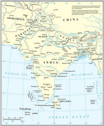 SOUTH ASIA: U N  official cartographic map: Afghanistan