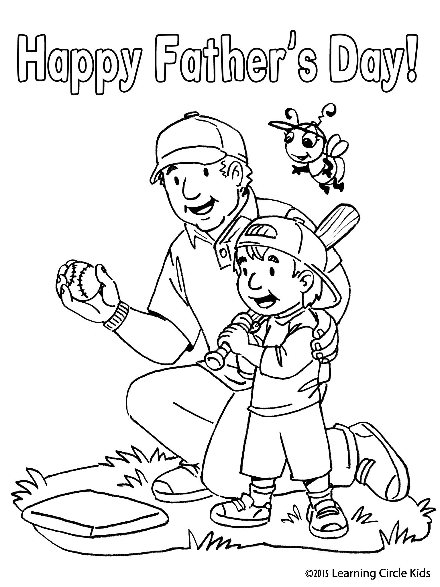 Happy Father S Day Card Free Print And Color