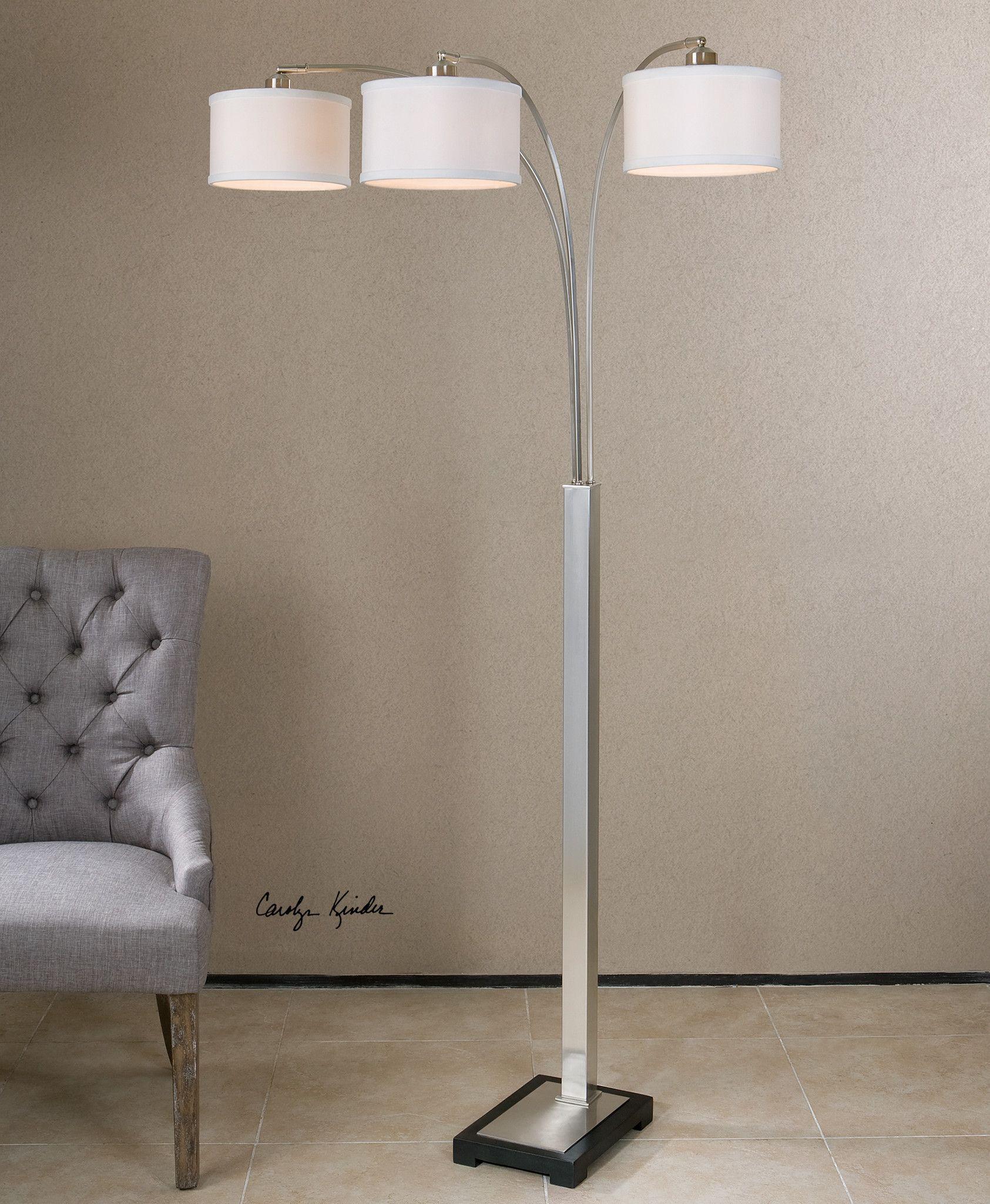 Uttermost Bradenton Nickel 3 Light Floor Lamp Nickel Floor Lamp Brushed Nickel Floor Lamp Floor Lamp