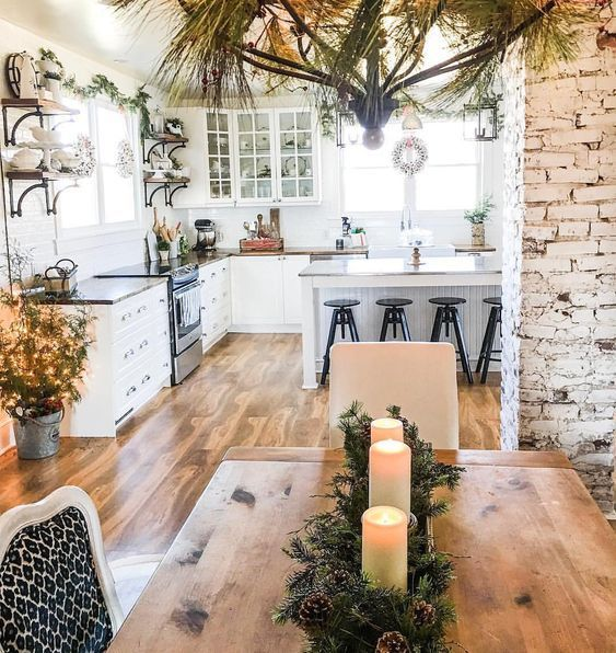 Charming Rustic Kitchen Ideas And Inspirations: 9 Charming Farmhouse Inspired Kitchens For A Cozy Holiday
